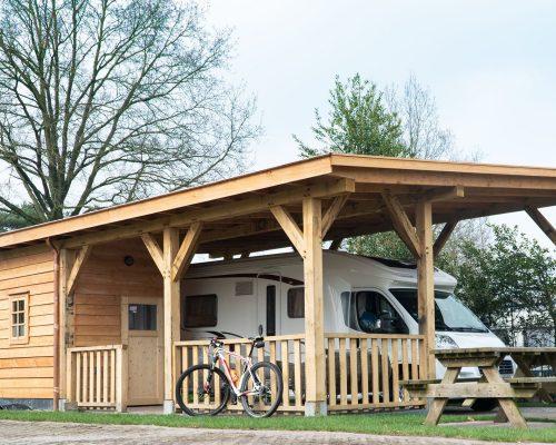 Overkapping camper plat dak